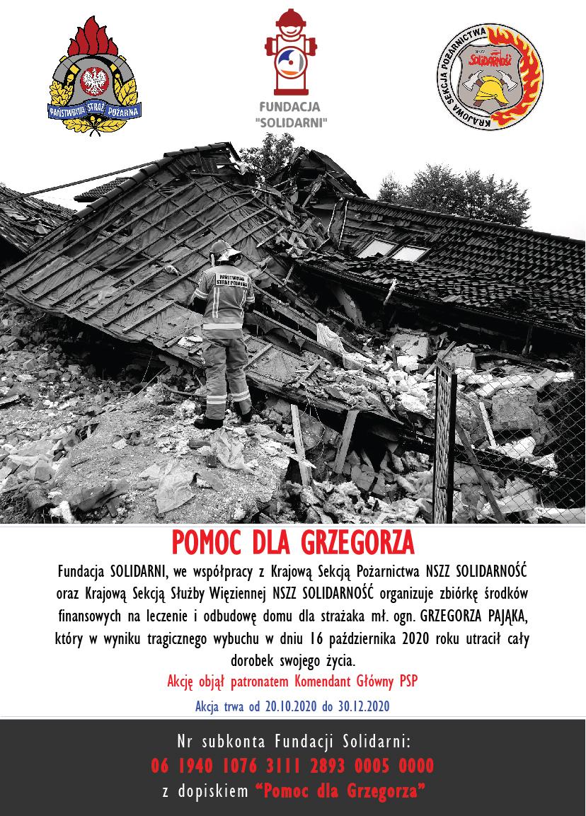 Pomoc dla Grzegorza - Plakat_Solidarni